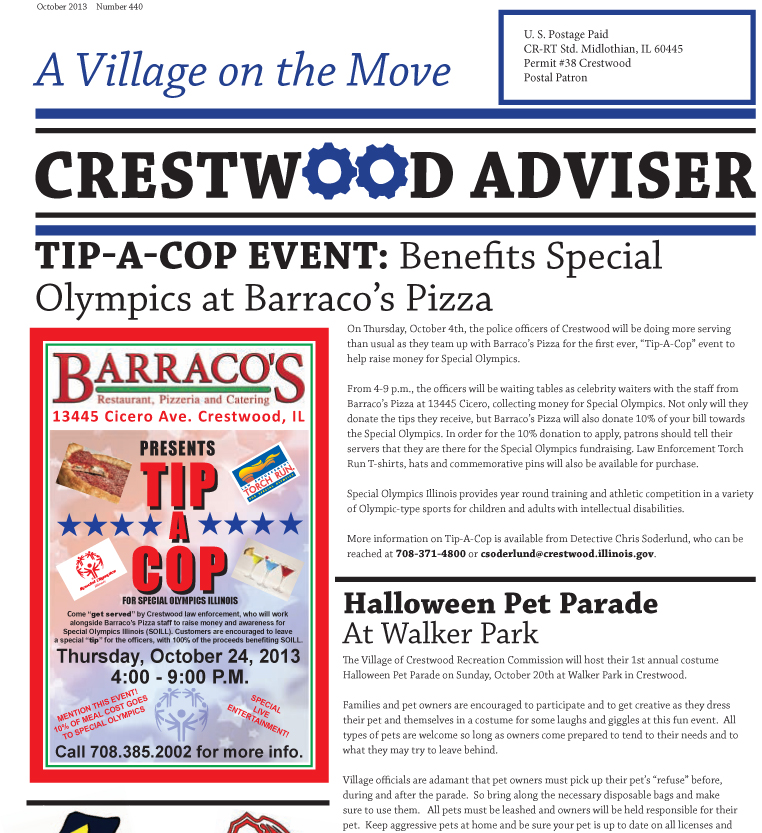 Village of Crestwood – The Adviser