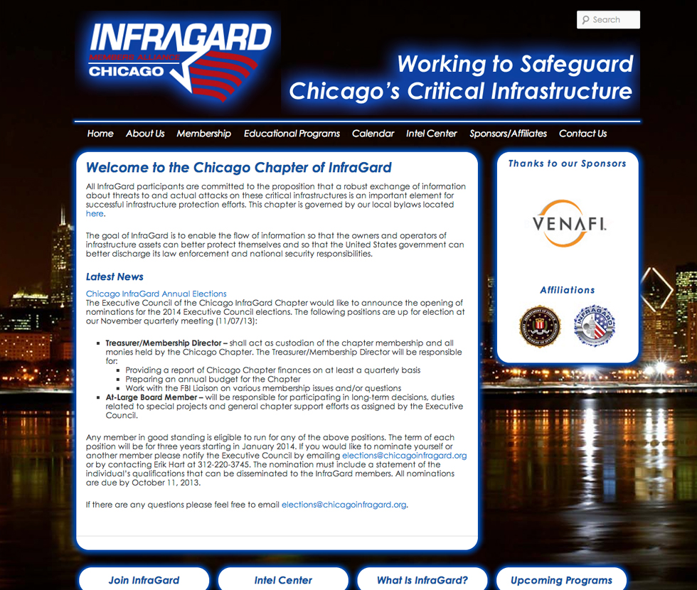 Infragard – Chicago Chapter – Website