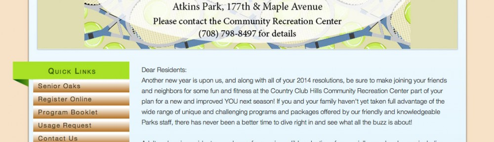 Country Club Hills – Parks & Recreation Website